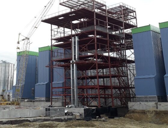 Production and installation of metal structures NORINO-CLEANING TOWER – 130 ton – region Vinnytsia, city Vapniarka 2018