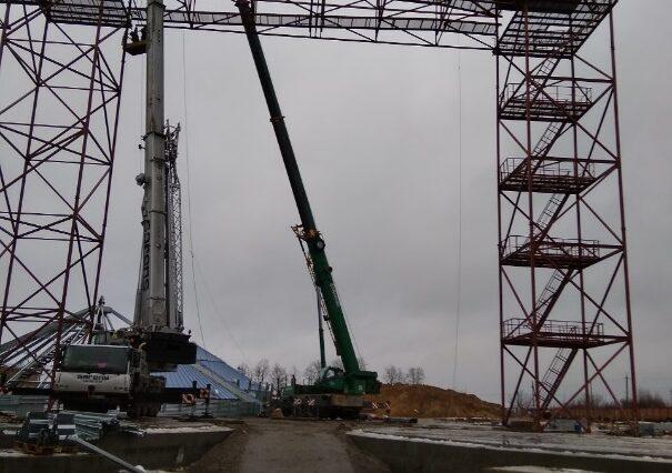 Produkcja i montaż konstrukcji metalowych NORRY TOWERS i MOSTY TRANSPORTOWE – 57 ton. region Winnica. Miasto Vendichany 2018